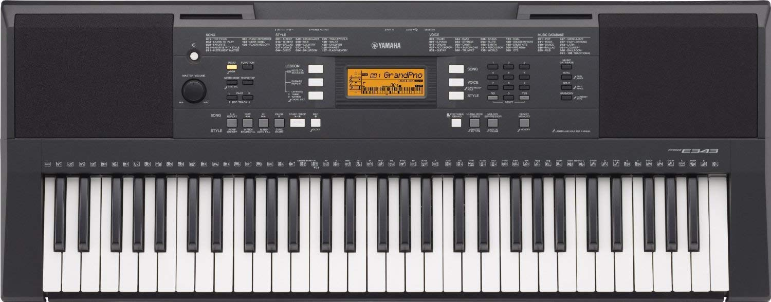 Yamaha PSRE-343 Digital Piano Review 2019